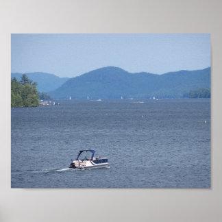 Cruising on the Lake Photo Poster