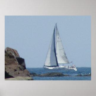 Cruising Sailboat Poster
