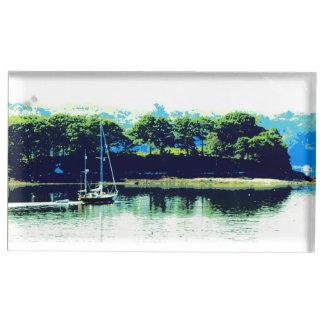 cruising sailboat table card holder