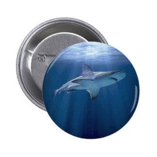 Cruising Shark 2 Inch Round Button