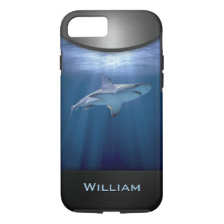 Cruising Shark with name iPhone 8/7 Case
