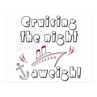 Cruising the Night Aweigh Postcard