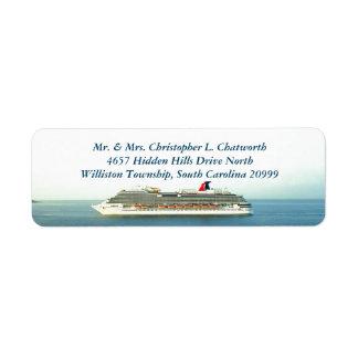 Cruising the Tropics Personalized Return Address Label