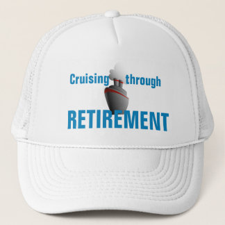 Cruising Through Retirement Aqua Trucker Hat