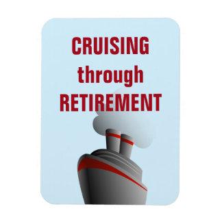 Cruising Through Retirement Blue Rectangular Photo Magnet