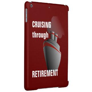 Cruising Through Retirement Dark Red iPad Air Case