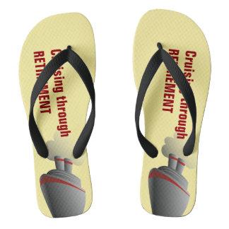 Cruising Through Retirement Yellow Flip Flops