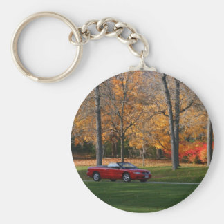 Cruising Through The Park Keychain