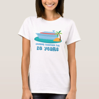 Cruising Together For 28 Years Anniversary Gift T-Shirt