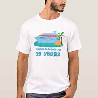 Cruising Together For 39 Years Anniversary Gift T-Shirt