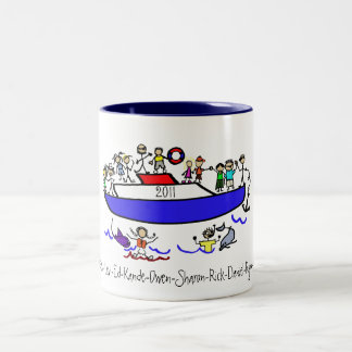 Cruising with the family Two-Tone mug