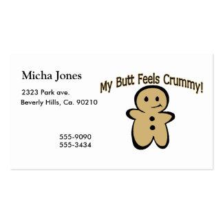 Crummy Butt Cookie Boy Business Card