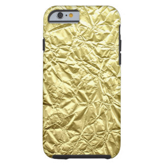 Crumpled faux gold patttern electronics tough iPhone 6 case