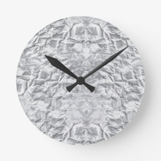 Crumpled Paper Clock