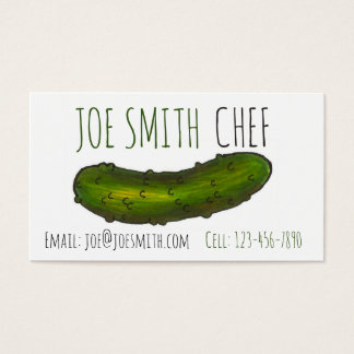 Crunchy Green Kosher Dill Pickle Deli Foodie Chef Business Card