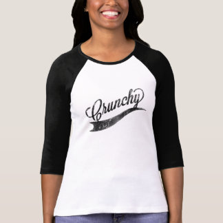 """Crunchy"" Hipster Ladies Baseball Style Top T-shirt"