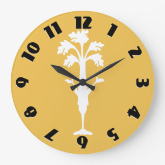 'Crunchy Time' Yellow Large Round Wall Clock