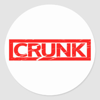 Crunk Stamp Classic Round Sticker