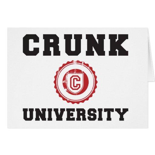 Crunk University Greeting Card