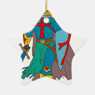 Crusader Ceramic Ornament