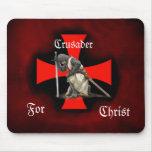 Crusader for Christ Mousepad