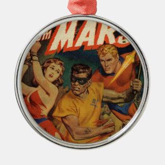 Crusader from Mars Metal Ornament