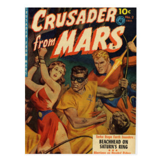 Crusader from Mars Postcard