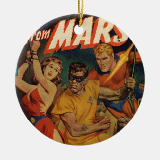 Crusader from Mars Round Ceramic Ornament