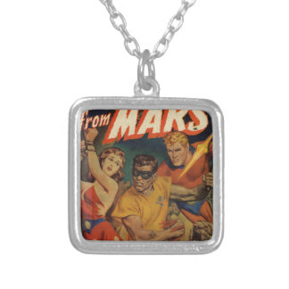 Crusader from Mars Silver Plated Necklace