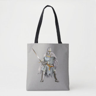Crusader Knight All-Over-Print Tote Bag