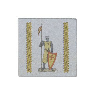 Crusader Knight, Early 13th Century Stone Magnets