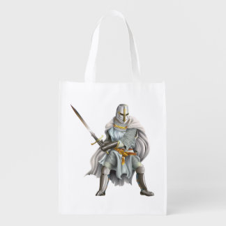 Crusader Knight Reusable Grocery Bag