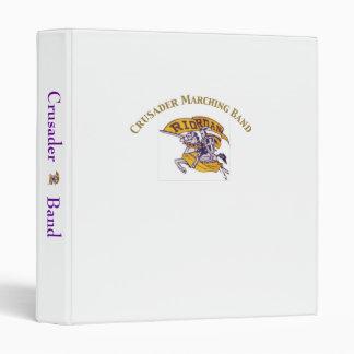 Crusader Marching Band three ring binder