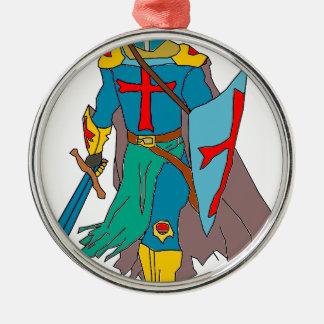 Crusader Metal Ornament