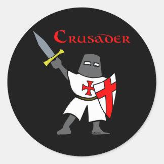 Crusader Round Sticker