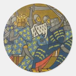 Crusaders Classic Round Sticker