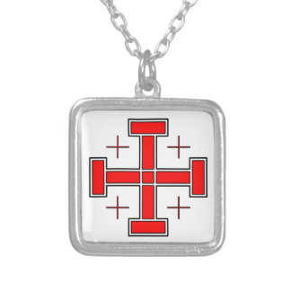 Crusader's Cross Silver Plated Necklace