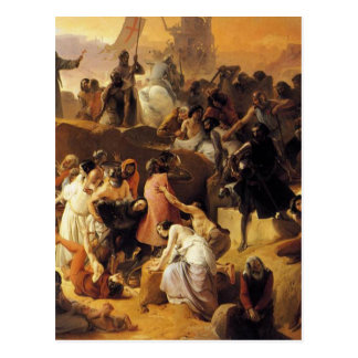 Crusaders Thirsting near Jerusalem by Francesco Postcard