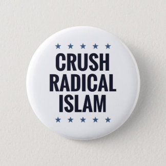 Crush Radical Islam 2 Inch Round Button