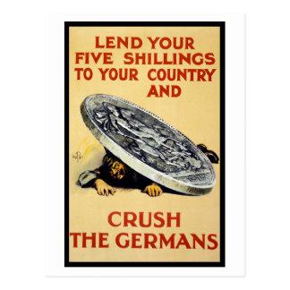 Crush The Germans Postcard