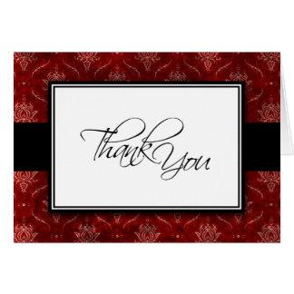 Crushed Red Velvet Elegant Wedding Thank You Card