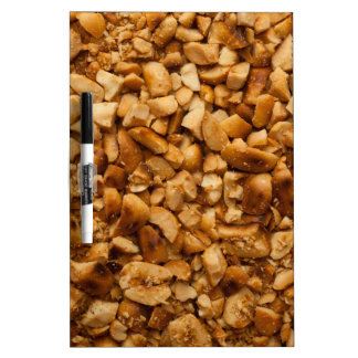 Crushed roasted peanuts dry erase board
