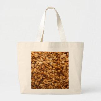 Crushed roasted peanuts large tote bag