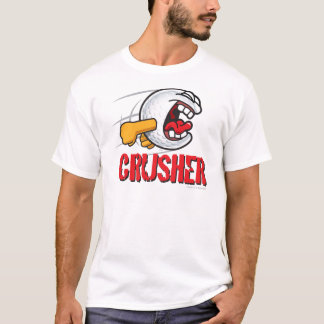 Crusher Cartoon Golf Ball For A Long Ball Hitter T-Shirt