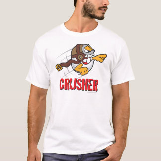 Crusher Cartoon Golf Ball For A Long Drive Winner T-Shirt