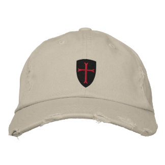 Crussader Cross Distressed Baseball Cap