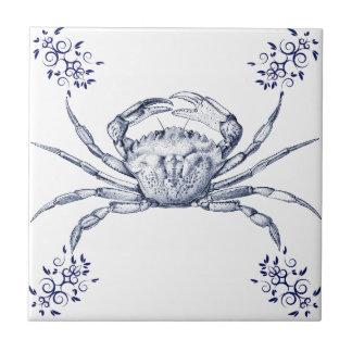 Crustaceans Ceramics ~ Green Crab Tile