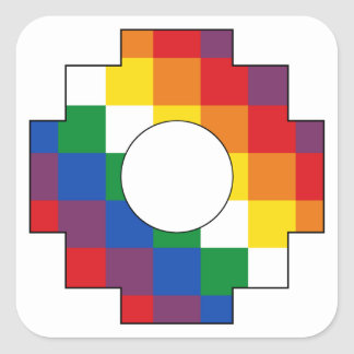 Cruz Andina - Tawa Chakana - Huipala - Qulla Suyu Square Sticker