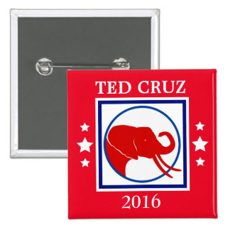 CRUZ Bull Elephant 2016 Election 2 Inch Square Button