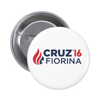 "Cruz-Fiorina 2016 Campaign Button - 2.25"" Round"